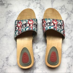 553555619422 UGG wooden rainbow flats slippers shoes sandals
